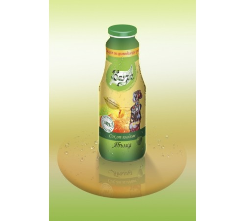 100% cold-pressed apple juice (with a mild sour off-favor) - 1L