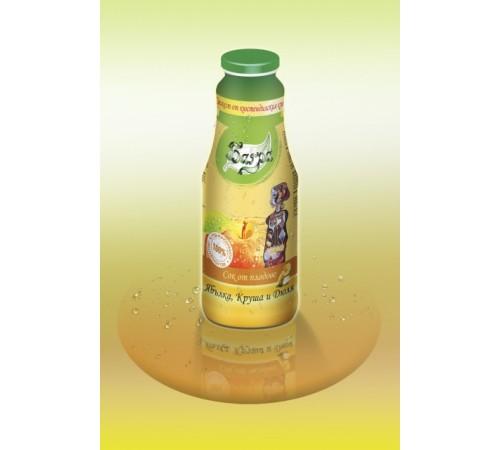 100% студено пресован сок ябълка, круша и дюля - бутилка 1L