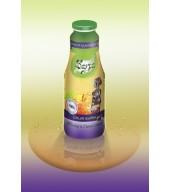 100% студено пресован сок ябълка и синя слива - бутилка 1L