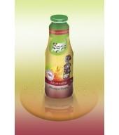 100% студено пресован сок ябълка и вишна - бутилка 1L