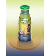 100% студено пресован сок ябълка и боровинка - бутилка 0,250 ml