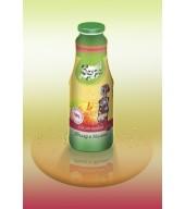 100% студено пресован сок ябълка и малина - бутилка 1L